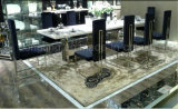 Top Marble Dining Table with Six Chair Set for Home