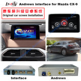 Relação de sistema Android para Mazdacx-9, navegação da navegação do carro do toque do melhoramento, HD 1080P, mapa de Google, jogo Stor