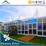 中国のTempered Glass Wallsの5m x 5m Carpa Outdoor Event Pagoda