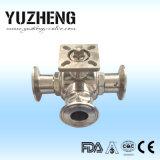 Valvola a sfera a tre vie sanitaria manuale di Yuzheng