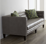 Cuoio genuino L sofà di figura per la casa o l'hotel (GLS-024)