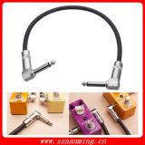 """La spigola della chitarra effettua il cavo della zona dello strumento con 1/4 """" di cavo ad angolo di destra dei connettori degli st di 6.35mm"""
