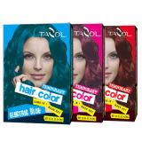 cor provisória do cabelo do uso da casa 7g*2 com vermelho de cereja