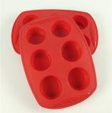Moulage de gâteau de silicones de Rould de 6 prises