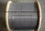 Corde galvanisée 7*19-6.0 de fil d'acier d'IMMERSION chaude