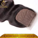 Può essere arricciata nessuna chiusura bassa di seta di separazione dei capelli umani