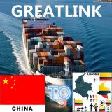 Serviço de transporte do frete de oceano (LCL/FCL) de Shenzhen/Shanghai/Guangzhou/Xiamen/Qingdao/Hong Kong a Cartagena, Colômbia