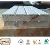 El panel de madera del revestimiento de madera de pared de la decoración interior de encargo de la casa