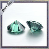 Colores verdes corazones y flechas de diamante de Moissanite