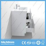 Moderner hoher Glanz-Farbanstrich-Badezimmer-Schrank mit seitlichem Schrank und LED-Lampe (BF318D)