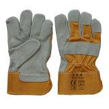 En 388 Anti-Rayent les gants travaillants d'ouvrier résistant protecteur de coupure de main de cuir fendu de vache