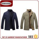 メンズ立場カラー細い適合の不足分の偶然のジャケット