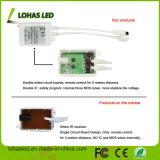 Gleichstrom 12V imprägniern 5m 300LEDs SMD 5050 RGB LED der Streifen-Licht-Installationssatz mit Ferncontroller und Stromversorgung