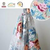 衣服のための多彩な花のレースファブリック、刺繍の花パターンおよび結婚式C10038