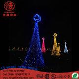Luz espiral Multicolor da árvore de Natal do diodo emissor de luz 120V 12V para a decoração ao ar livre