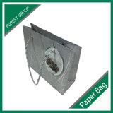 Выдвиженческая рециркулированная бумажная хозяйственная сумка с произведением искысства таможни печатание