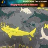 """Le """" requin """" estampé sur le tissu d'extension de polyester pour la plage court- (YH2141.2142)"""