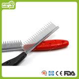 Pet Plastic Hand Steel Needles Hair Combs (HN-PG345)
