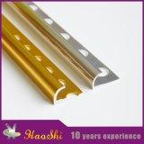 Ajuste redondo del borde de aluminio 6063 del azulejo decorativo de la aleación (HSRO-225)