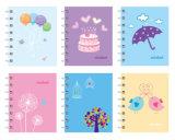 Großverkauf kundenspezifisches Briefpapier-Taschen-gewundenes Notizbuch-Drucken