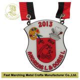 O aço inoxidável imprimiu a medalha, medalhão dos esportes do carnaval da lembrança da concessão