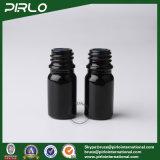 schwarze Glasflaschen des spray-5ml mit schwarzem feinem Nebel-Sprüher