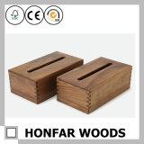 Boîte à tisser en bois de noyer vintage pour l'hôtel Home Restaurant