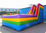 Cour de jeu gonflable de jeu d'obstacle avec la glissière (CHOB322-1)