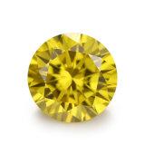 느슨한 황금 노란 합성 입방 지르콘 주옥 CZ는 돌을 던진다