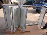 Persiennes double vitrage en PVC Fenêtre pliante et fenêtre cadre en bois