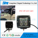 20W 플러드 off-Road 램프 크리 사람 LED 정면 일 빛