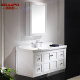 Governo di pavimento di mogano spagnolo della stanza da bagno di legno solido di stile (GSP9-008)