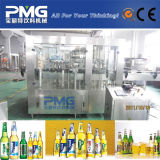 Glasflaschenreinigung-füllende mit einer Kappe bedeckende Maschine für Bier