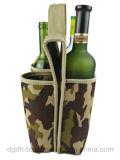 Luva isolada do frasco do neopreno do saco do refrigerador da cerveja de 6 frascos venda por atacado portátil