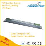 75W 700 ~ 2000mA conducteur courant constant LED d'alimentation avec 0-10V Dimming