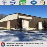 金属板のクラッディングが付いているカスタマイズされた鉄骨構造の倉庫