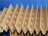 V - Pulsar los media de filtro plisados cabina