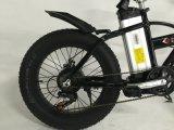 Samsung電池が付いている電気自転車の脂肪を折る20インチ