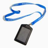 Подгонянные нейлон логоса/полиэфир/напечатанный шелком изготовленный на заказ талреп с держателем значка удостоверения личности