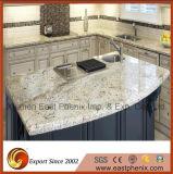 Countertop кухни Worktops бежевого искусственного камня кварца Polished