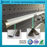 Profilo di alluminio di alluminio per caduta ovale Rod del tubo del guardaroba