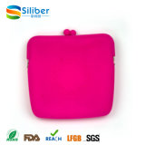 sacs carrés portatifs de pièce de monnaie d'embrayage de main de femmes de silicones pour les cadeaux cosmétiques