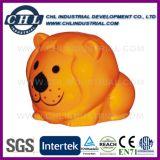 Logotipo personalizado forma animal fabricante de plástico caja de ahorros de la moneda