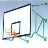 背板が付いている壁に取り付けられたSMCの背板のバスケットボールたが