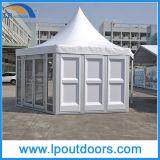 tenda esterna di cerimonia nuziale della tenda foranea del Pagoda di figura di esagono di 6X6m per l'evento