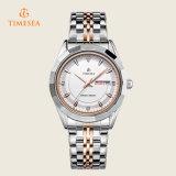 Cadeau analogique imperméable à l'eau Watch72370 de poignet de montre de quartz d'étalage en acier de Mens
