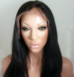 Yaki Straight Full Lace Wig / Virgin Brazilian Lace Front Wig