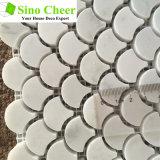 Azulejos de mosaico de Bianco Carrara del azulejo/mosaico de mármol de mármol de la decoración