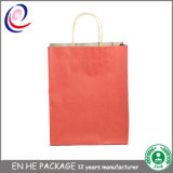 Sacchetto su ordinazione domestico della carta kraft del Brown del sacchetto di acquisto dell'imballaggio dell'accumulazione