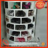 Crémaillère en bois de mémoire d'étalage de chaussures de qualité supérieur de décoration faite sur commande de pièce